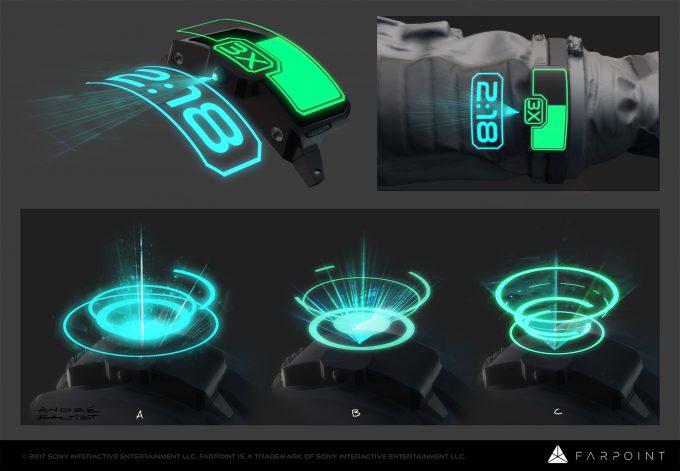 farpoint concept art andre balmet wrist gadget