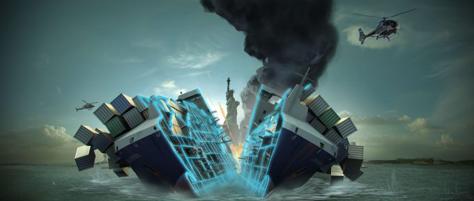 spider man homecoming concept art andrew leung container ship split 04