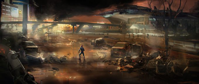 spider man homecoming concept art andrew leung intrepid crash 02