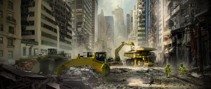 spider man homecoming concept art andrew leung park ave cleanup 04
