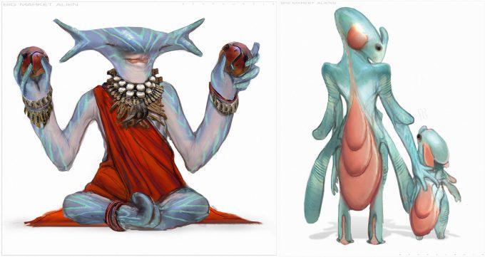 valerian movie concept art ben mauro bigmarket alien 01ffff bm