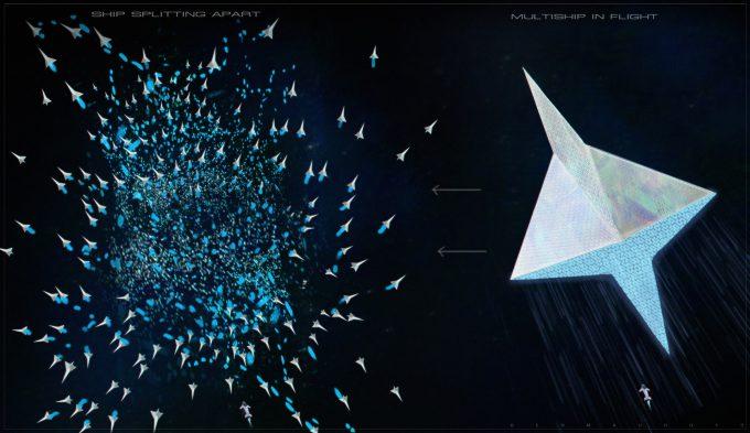 valerian movie concept art ben mauro v multiship swarm 01 bm