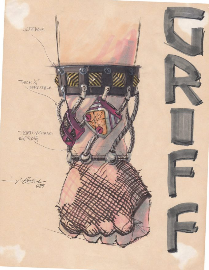 Back to the Future Part 2 concept art illustration John Bell Studio Griff glove