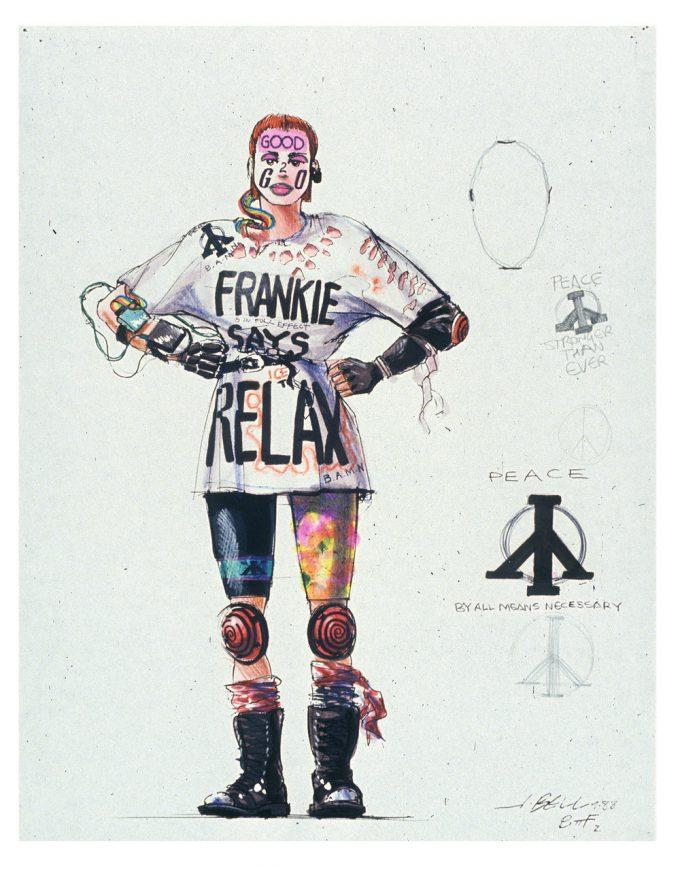 Back to the Future Part 2 concept art illustration John Bell Studio Griffs gang member