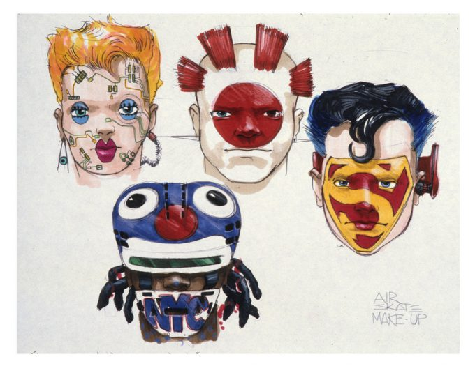 Back to the Future Part 2 concept art illustration John Bell Studio Hover Gang 3
