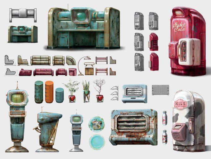 Fallout 4 concept art IN fridge