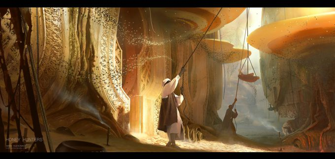 max kozhevnikov concept art design illustration 02 honey hunters 15 render 16 print