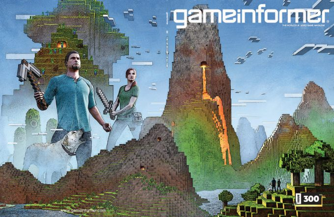 Game Informer 300 Cover Art Greg Semkow Minecraft