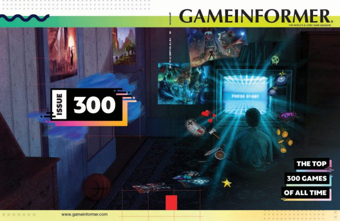 Game Informer 300 Cover Art Greg Semkow Retro