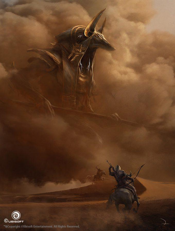 Assassins Creed Origins Concept Art Martin Deschambault aco anubis giant god