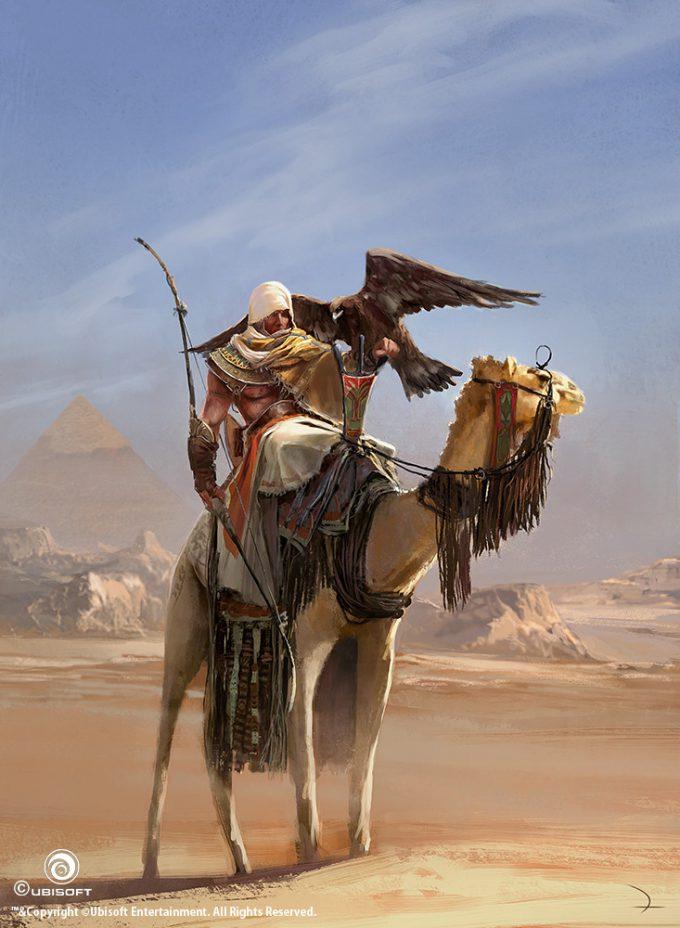 Assassins Creed Origins Concept Art Martin Deschambault aco bayek dromedary