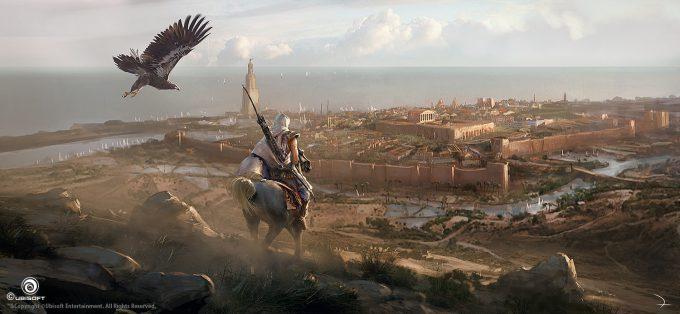 Assassins Creed Origins Concept Art Martin Deschambault aco first sight of alexandria