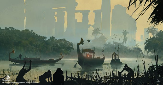 Assassins Creed Origins Concept Art Martin Deschambault aco nile delta ruins