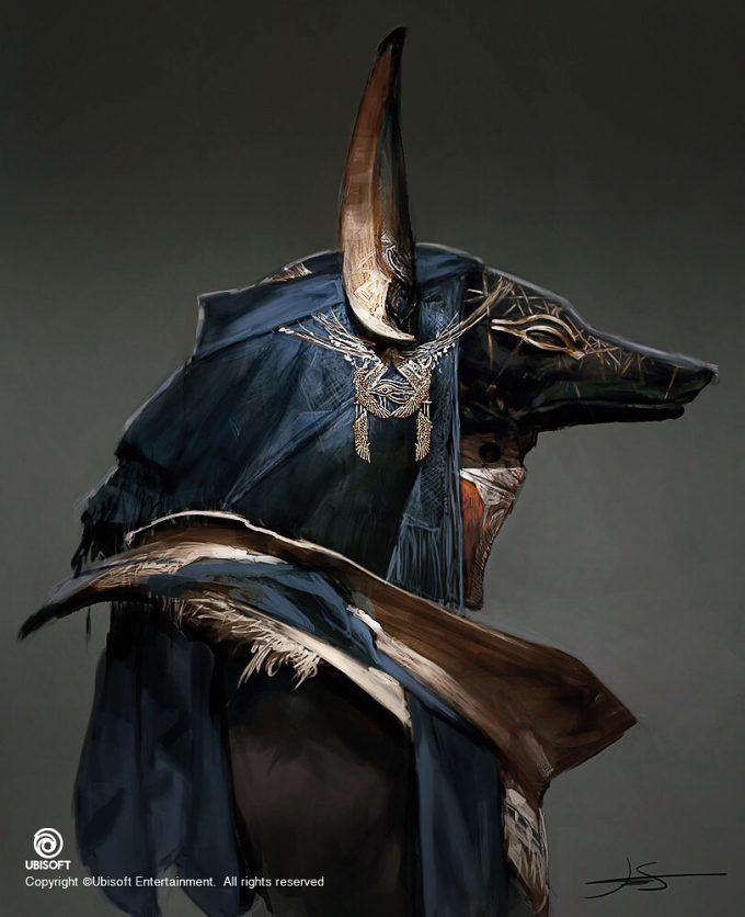 Assassins Creed Origins Concept Art by Jeff Simpson 03 Priest of Anubis