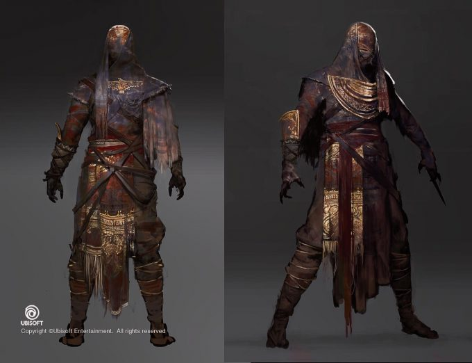 Assassins Creed Origins Concept Art by Jeff Simpson 06 mummy designs 02