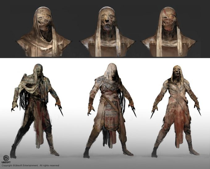 Assassins Creed Origins Concept Art by Jeff Simpson 06 mummy designs 03