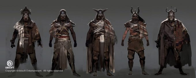 Assassins Creed Origins Concept Art by Jeff Simpson 12 bounty hunter design sketches