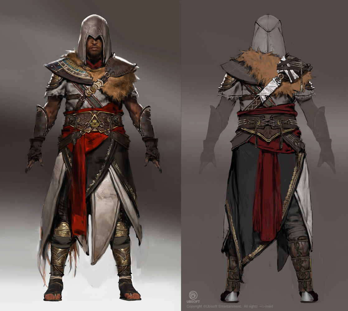 assassin character art assassin's creed origins concept artjeff simpson