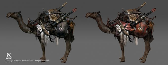 Assassins Creed Origins Concept Art by Jeff Simpson camels2