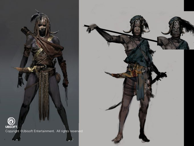 Assassins Creed Origins Concept Art by Jeff Simpson huntress2