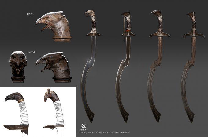 Assassins Creed Origins Concept Art by Jeff Simpson swords