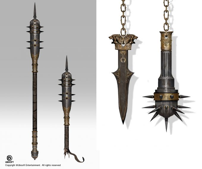 Assassins Creed Origins Concept Art by Jeff Simpson weapons1