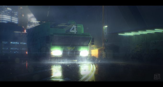 Blade Runner Inspired concept art illustrations 01 Ronan Le Fu Dofresh bladerrunner v02
