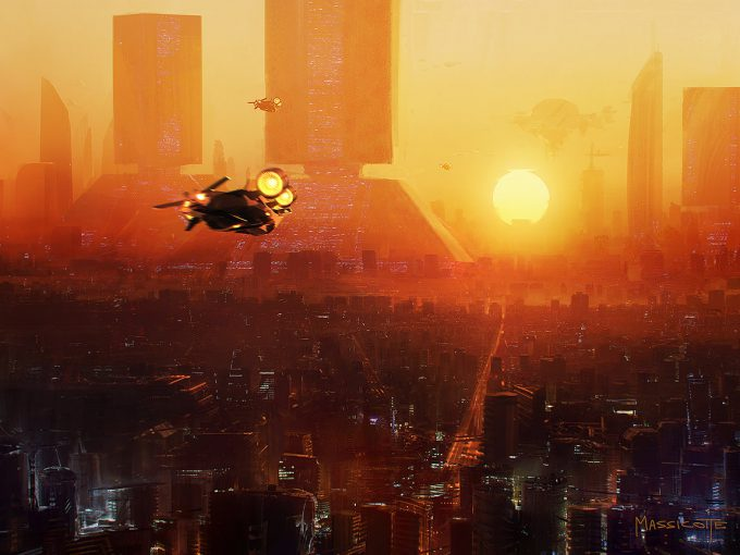 Blade Runner Inspired concept art illustrations 01 brennan massicotte sketch