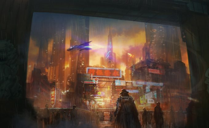 Blade Runner Inspired concept art illustrations 01 joseph kim blader