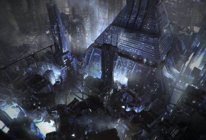 Blade Runner Inspired concept art illustrations 01 roberto robert ren build paint