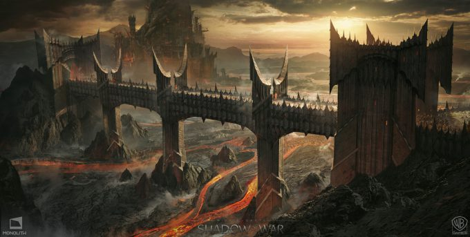 Middle earth Shadow of War Concept Art george rushing barx dur bridge
