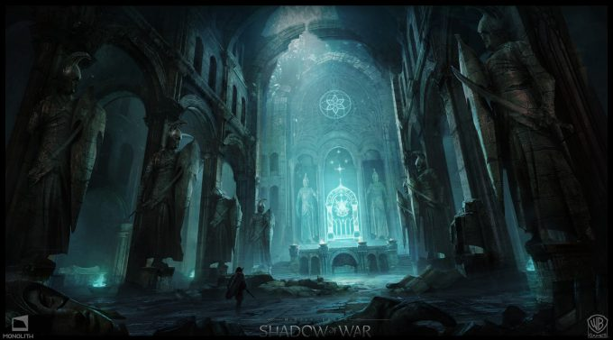 Middle earth Shadow of War Concept Art george rushing catacombs 02