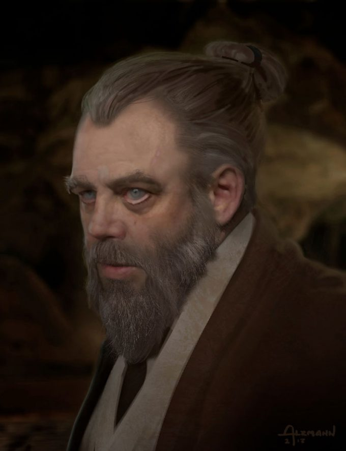 Star Wars The Force Awakens Concept Art CA Luke Skywalker