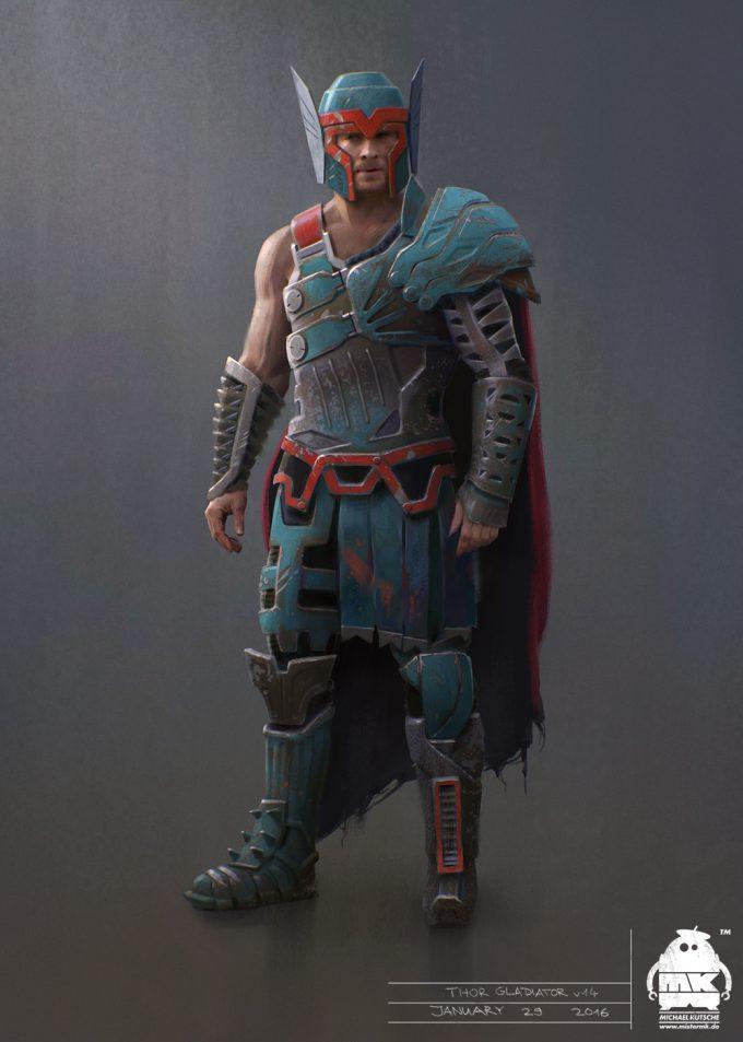 Thor Ragnarok Gladiator Thor Concept Art Michael Kutsche
