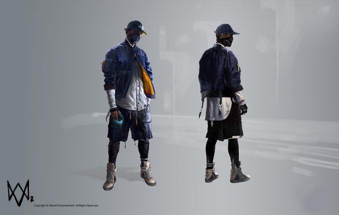 Watch Dogs 2 Concept Art Aadi Salman MainCharacter wip FrontBackPose v05 20p