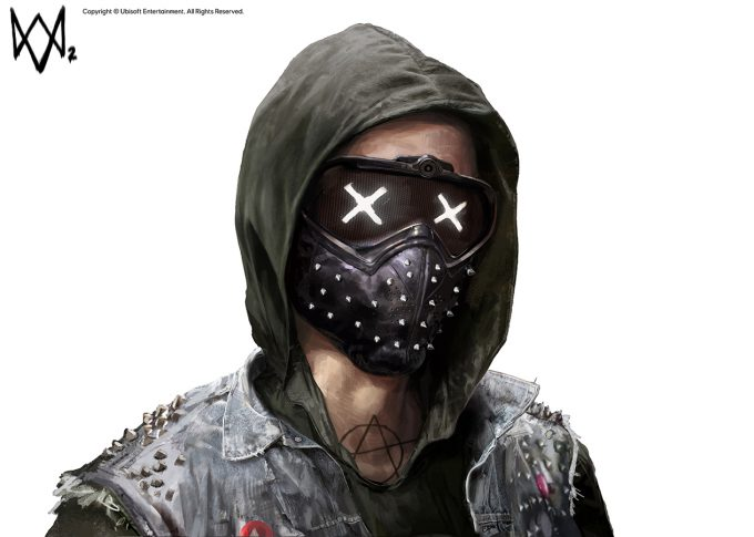 Watch Dogs 2 Concept Art Aadi Salman TheWrench Mask v06b 3 20p
