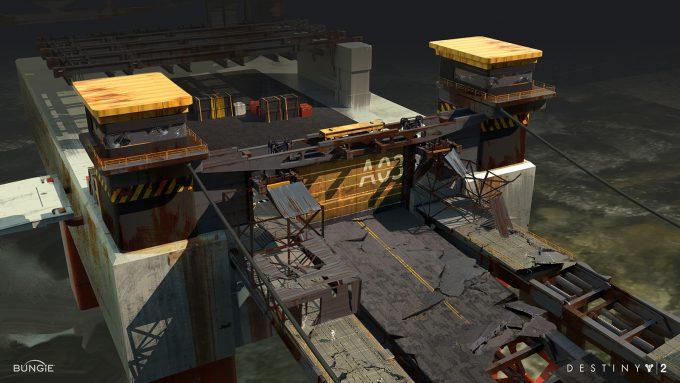 destiny 2 concept art sung choi fleet transition bridge exit 01