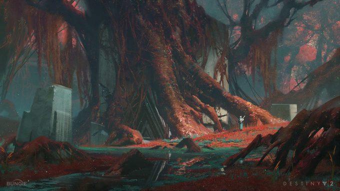 destiny 2 concept art sung choi nessus swamp well 01