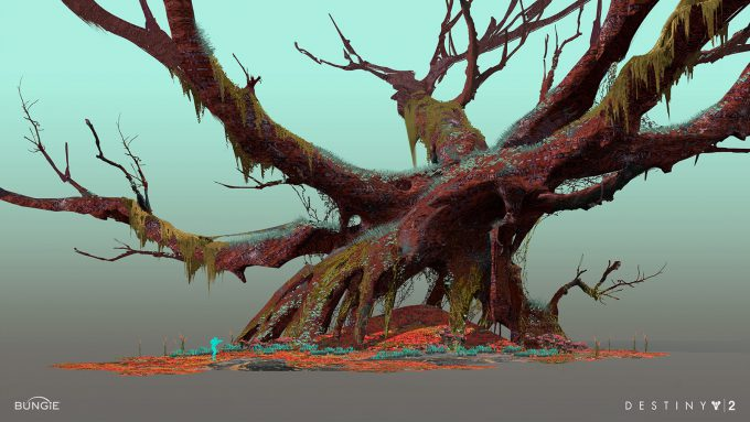 destiny 2 concept art sung choi nessus tree scale 01