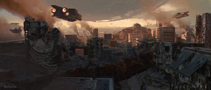 destiny 2 concept art sung choi ruined city wide 01