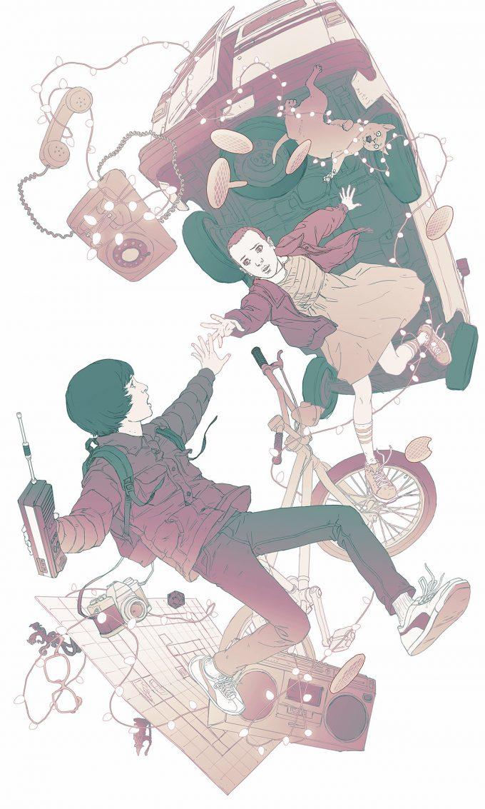 stranger things fan concept art illustration 01 jason chan