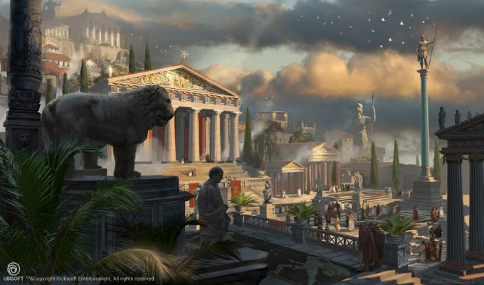Assassins Creed Origins Concept Art Eddie Bennun ace env cyrene agora 2