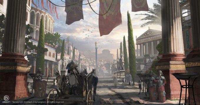 Assassins Creed Origins Concept Art Eddie Bennun ace env cyrene qaragates earlymorning 2