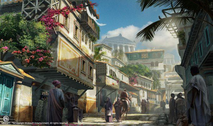 Assassins Creed Origins Concept Art Eddie Bennun ace env cyrene streeetview 1 lr