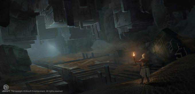 Assassins Creed Origins Concept Art Eddie Bennun ace env firstciv cave 5