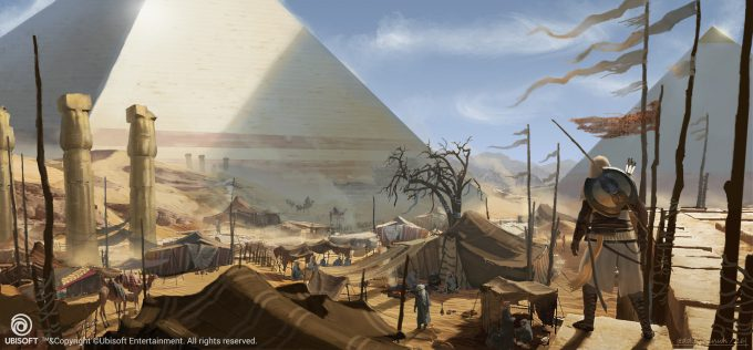 Assassins Creed Origins Concept Art Eddie Bennun ace env giza camp 2
