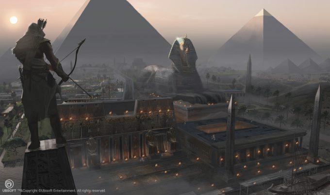 Assassins Creed Origins Concept Art Eddie Bennun ace env giza fromthesphinx 1