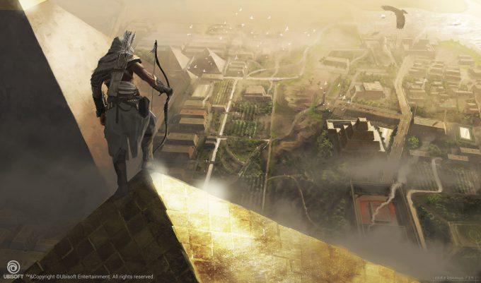 Assassins Creed Origins Concept Art Eddie Bennun ace env giza overview 1