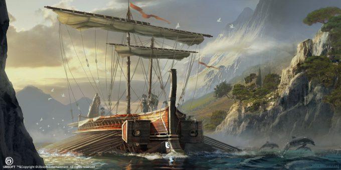 Assassins Creed Origins Concept Art Eddie Bennun ace env greek trireme 4