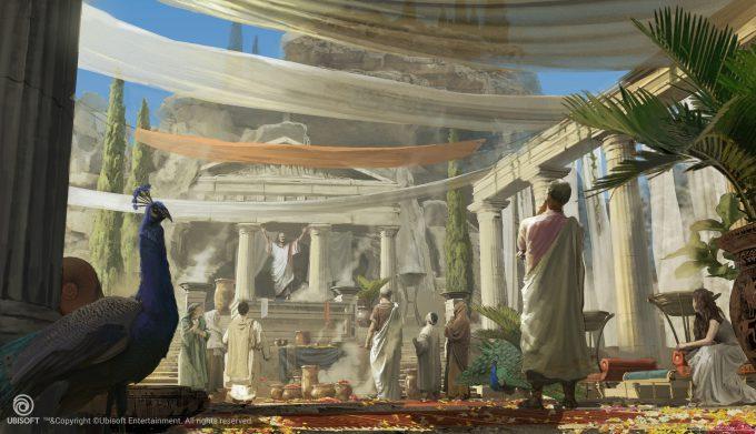 Assassins Creed Origins Concept Art Eddie Bennun ace env oracle shrine logo 2